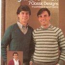 Leisure Arts Knitted Raglans For Men  # 265 Marion Graham