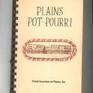 Plains Pot Pourri Cookbook Regional Georgia Plains Jr. Woman's Club Vintage