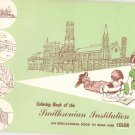 Smithsonian Institute Read And Color Coloring Book Vintage