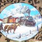 Country Crossroads Collector Plate Winter Rails Hamilton Train Ted Xaras