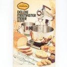 Sunbeam Deluxe Mixmaster Mixer Recipes Cookbook Vintage Item
