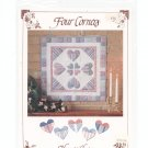 Hearts  Choice Wall Hanging Pattern by Four Corners # 6400