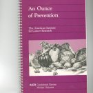 An Ounce Of Prevention Winter Cookbook by American Institute for Cancer Research