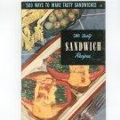 500 Ways To Make Tasty Sandwiches #14 Cookbook Vintage Culinary Arts Institute