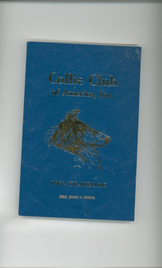 Collie Club Of America Year Book 1964 Vintage CCA Yearbook