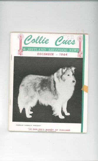 Collie Cues & Shetland Sheepdog News December 1964 Vintage
