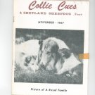 Collie Cues & Shetland Sheepdog News November 1967 Vintage