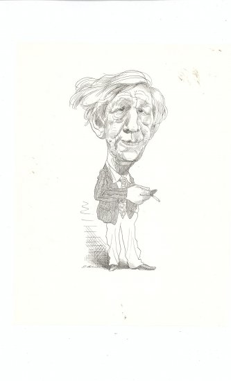 Caricature by David Levine Large Size Vintage