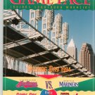 Game Face Cleveland Indians VS Seattle Mariners Scorebook / Program Opening Day 1994