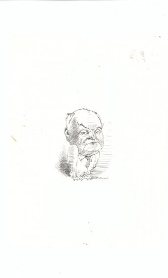 Caricature by David Levine Medium Vintage