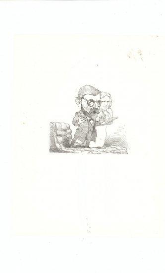 Caricature by David Levine Medium Vintage