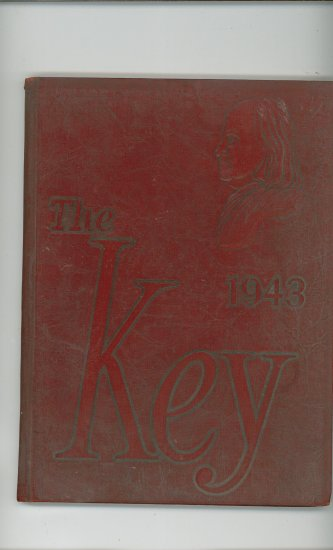 The Key 1943 Year Book Benjamin Franklin Yearbook Rochester New York High School Vintage