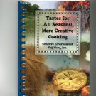 Tastes For All Seasons More Creative Cooking Cookbook Regional Day Care New York