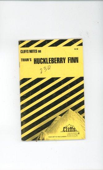 Cliffs Notes Twains Huckleberry Finn 0822006065