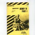Cliffs Notes Shakespears Henry IV Part 1 I 0822000237