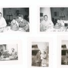 Vintage Photograph Lot Of 5 Assorted Children Baby With Parents Grand Parents Black & White
