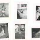 Vintage Photograph Lot Of 6 Assorted Wash Tub Stroller Corner  Plus B&W