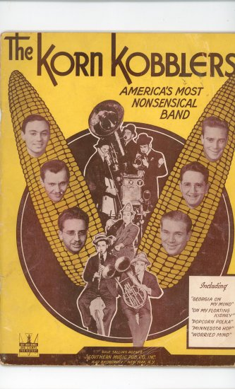 The Korn Kobblers Song Book Vintage Southern Music Pub
