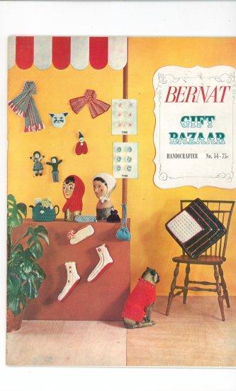 Bernat Gift Bazar Handicrafter No. 54 Vintage Knitting