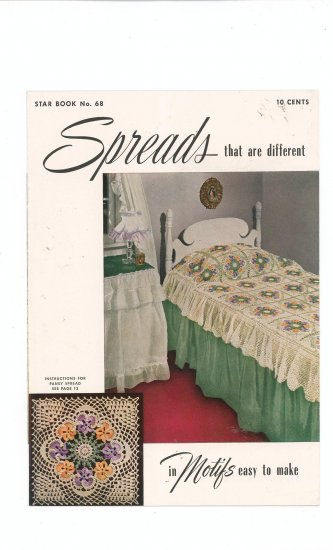 Spreads That Are Different In Motifs Star Book No. 68 Vintage Crochet American Thread Company