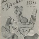 Hand Knits By Beehive Socks For Men Women Children Book No. 127 Vintage
