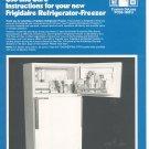 Frigidaire Refrigerator Freezer Custom Deluxe FCD3-150TU Manual Instructions Not PDF