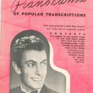 Eddy Duchins Pianorama Of Popular Transcriptions Remick Music Corp. Vintage