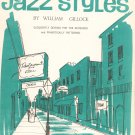 New Orleans Jazz Styles by William Gillock Music Book Piano Vintage