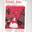 Nutshell News February 1986 Valentines Day Party How To Miniatures