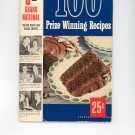 Pillsbury's 3rd Grand National 100 Prize Winning Recipes Cookbook Vintage First Edition 1952