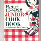Better Homes and Gardens Junior Cook Book Cookbook Vintage Item 696000709