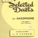 Selected Duets For Saxophone Volume 1 by H Voxman Rubank No. 194