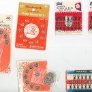 Vintage Lot  Assorted Hooks & Eyes & Loops Snap Fasteners