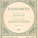 Johann Sebastian Bach Concerto C Minor 2 Piano Harold Bauer Schirmer Vintage 1926