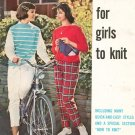 Bernat Fashions For Girls To Knit Book Number 83 Vintage