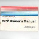 1972 American Motors Owners Manual
