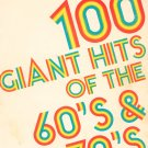 100 Giant Hits Of The 60's & 70's Big 3 Music Corp. Vintage