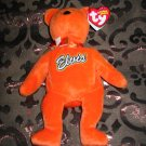 Ty Coco Presley Elvis Orange Bear With Tag Retired Beanie Baby