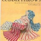 Bernat Cuddlethrows Book Number 62  Vintage 1957 Knit Crochet