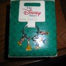 Disney Key Ring With 5 Charms Mickey Minnie Donald Duck Goofey Pluto