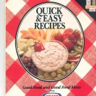 Quick & Easy Recipes Cookbook Better Homes and Gardens & Kraft 1988