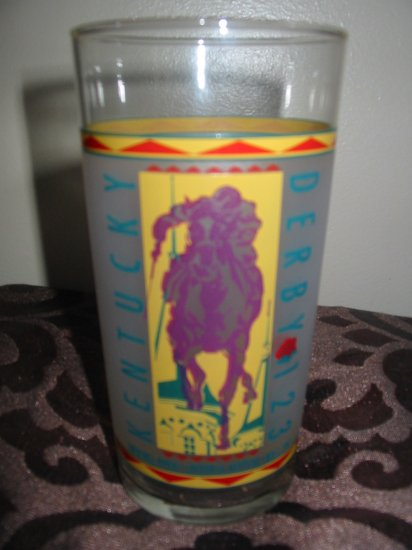 Kentucky Derby 123 Souvenir Glass 1997 Churchill Downs