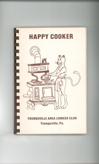 Happy Cooker Cookbook Regional Youngsville Area Lioness Clun PA.