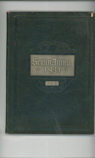 Senior Annual 1931 Year Book Yearbook Jamestown High School New York Vintage