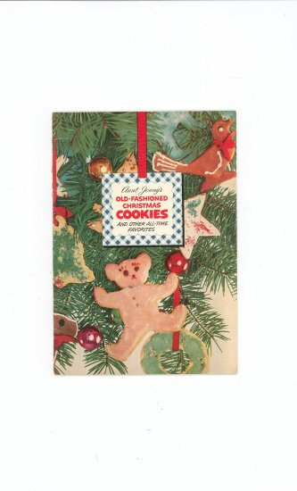 Aunt Jenny's Old Fashioned Christmas Cookies Cookbook Vintage 1952