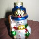 Snowman Glass Christmas Ornament Snow Man