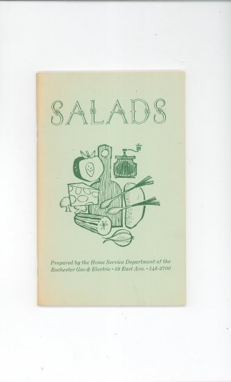 Salads Cookbook Regional New York Rochester Gas & Electric RGE