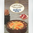 Timeless Recipes With Minute Rice Cookbook Vintage 1969
