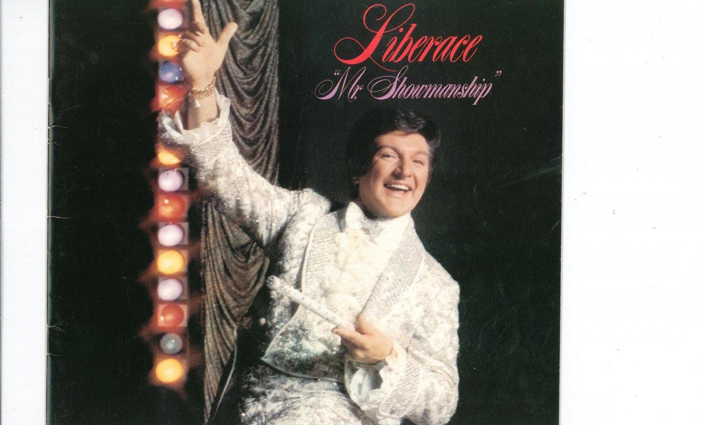 Liberace Mr. Showmanship Souvenir Program Vintage 1979 With Original Brochure
