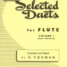 Selected Duets For Flute Volume 1 H. Voxman Rubank Library 177
